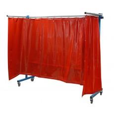 TransFlex Schutzwand mit Vorhang ungesäumt, rotorange Schutzwand Art.-Nr. 1613000-1613000-20