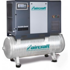 A-K-MAX 1110-500F K VS (IE3) Direktgeflanschte Schraubenkompressoren, Frequenzregelung, Kältetrockner auf Behälter AIRCRAFT 2095774-2095774-20