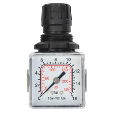 "Druckregler 1/4"" 14bar m. Manometer 40 1/8"" hinten-2314050-20"