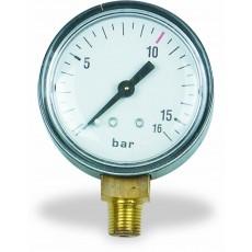"""Manometer 1/8"""" 10bar hinten f. Filterdruckregler 1/4"""" 12b-2316003-20"""