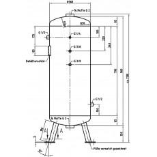 DB VZ 90/11 V Druckluftbehälter Art.-Nr. 2500620-2500620-20