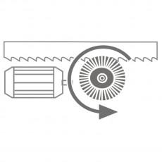 motorisch angetriebene Spänebürste Optional-Zubehör für HMBS 500 x 750 HA-DG / HMBS 500 x 750 HA-DG X Art.-Nr. 3649709-3649709-20