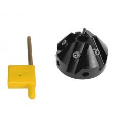 Fräskopf 37,5° KE 10 Pos. 50C / tool holder 37,5°-3991103-20