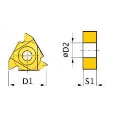 HM-Ersatzwendeplatten ISO 16ER AG60 HM-Ersatzwendeplatten Art.-Nr. 3441703-3441703-20