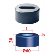Langlochmatrize Nr.60 26,3 x 40,3 mm Langlochmatrize für Mubea Lochstanzen Art.-Nr. 3889426,3X40,3-3889426,3X40,3-20
