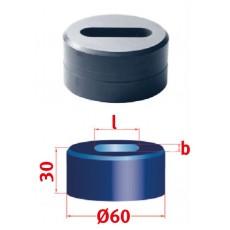 Langlochmatrize Nr.60 19,3 x 40,3 mm Langlochmatrize für Mubea Lochstanzen Art.-Nr. 3889419,3X40,3-3889419,3X40,3-20