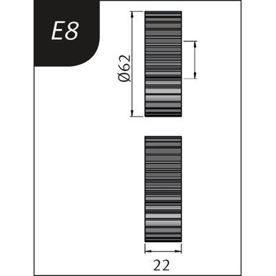 Biegerollen Typ E8 für SBM 140 Metallkraft 3880138