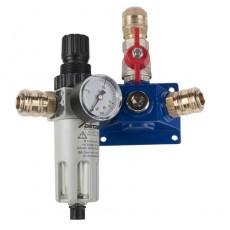 Endverteilerdose m. 2 Einhand kupplungen, Absperrhahn und Filterdruckregler-2159322-20