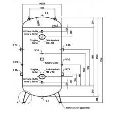 DB VZ 3000/16 V Druckluftbehälter Art.-Nr. 2500910-2500910-20